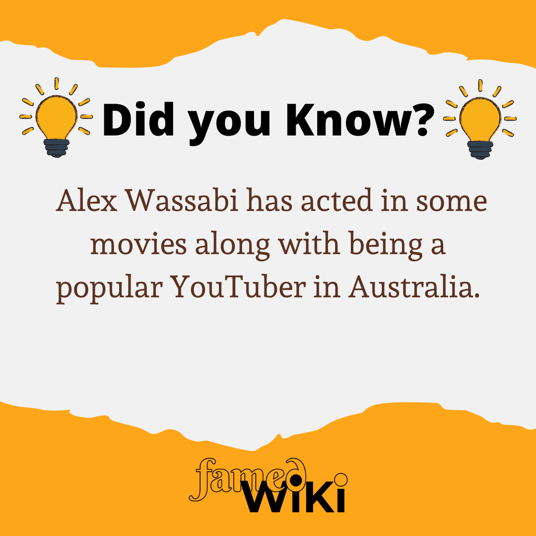 Alex Wassabi Facts