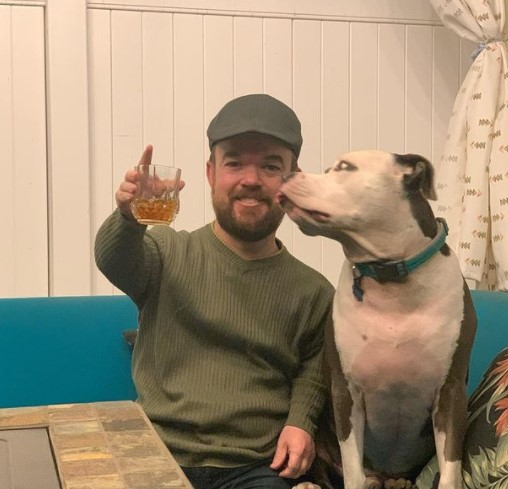 Brad Williams with pet