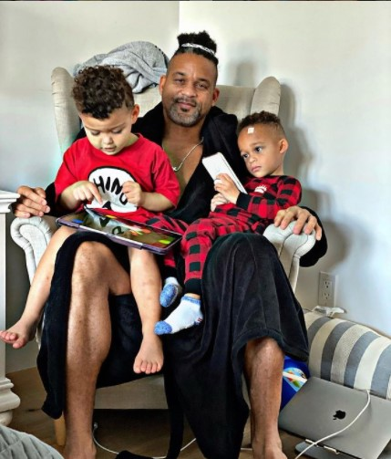Shaun T with his sons