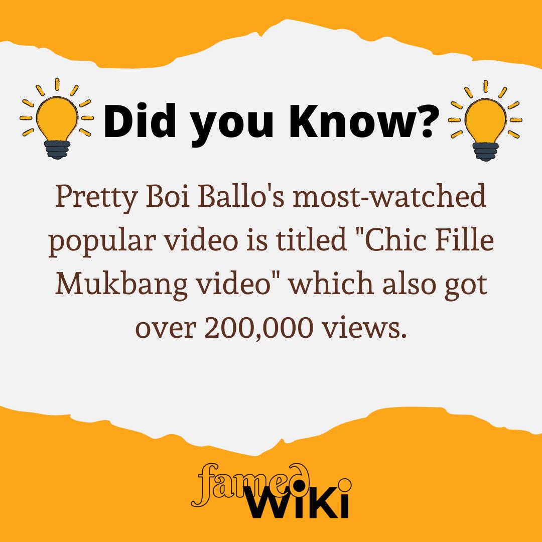 Pretty Boi Ballo Facts