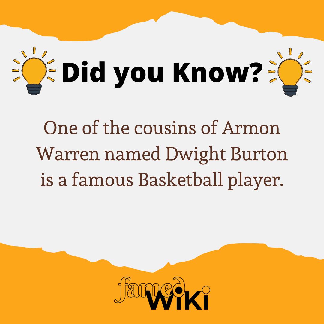 Armon Warren Facts