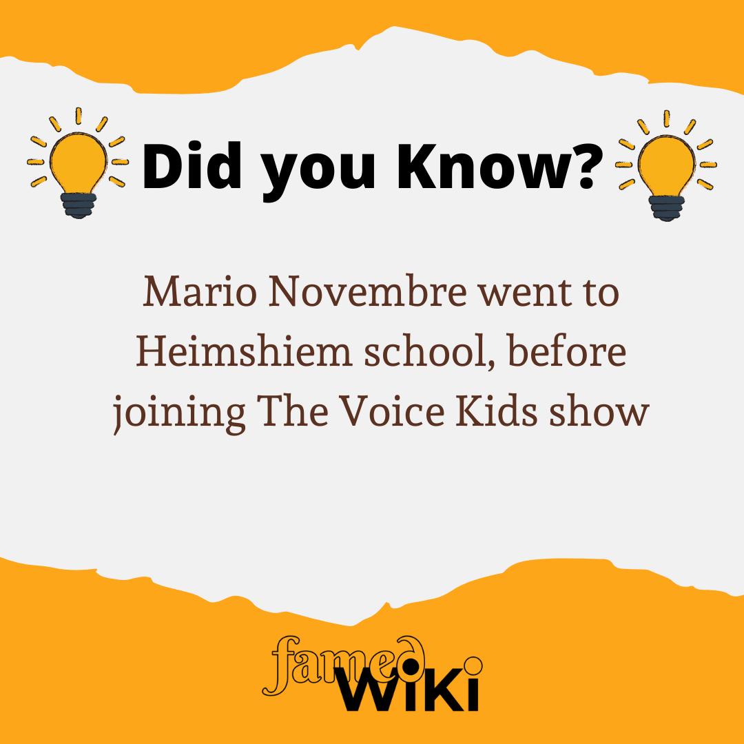 Mario Novembre Facts