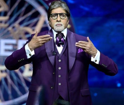 Amitabh Bachchan hosting a show