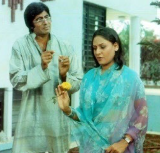 Amitabh bachchan with his wife in a movie character