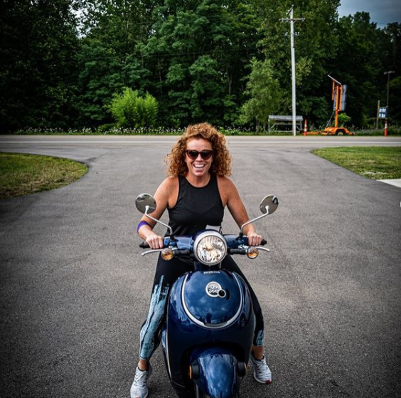 michelle wolf riding her scooty