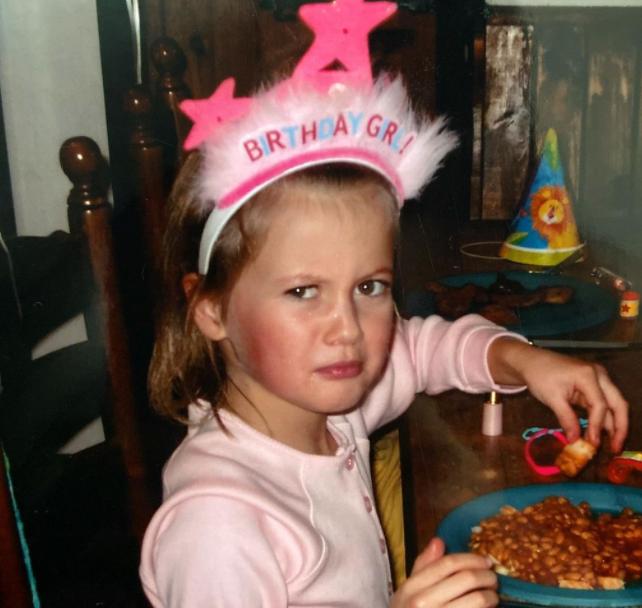 Little Holly H eating