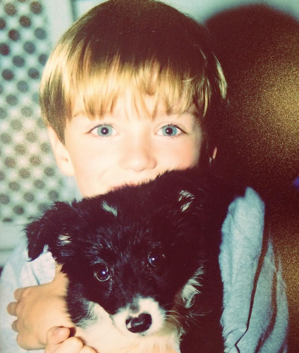 Luke eisner with his pet