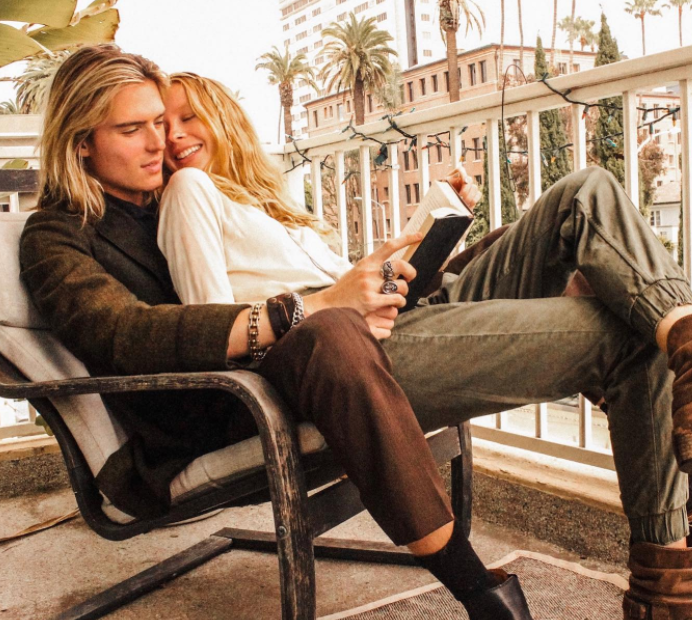 Luke eisner having moments with his girlfriend