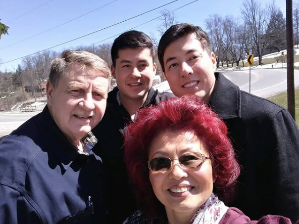 rick saccone with his wife and sons