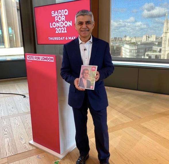 sadiq khan for 2021 london