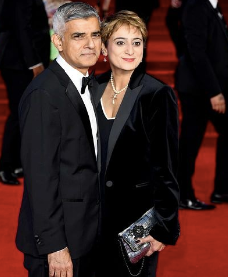 sadiq khan with his wife